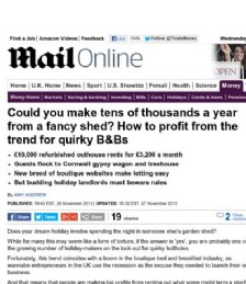 Could you Make Tens of Thousands a Year From a Fancy Shed?
