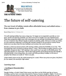 The Future of Self Catering
