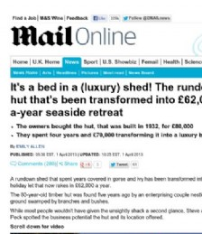 It�s a bed in a (luxury) shed!